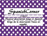 Physical description Bingo in Spanish