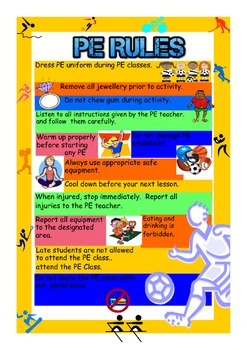 Physical education rules