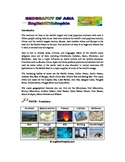 Introduction the physical geography of Asia. Watch and Learn.