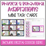 Physical or Behavioral Adaptations?  Mini Task Cards