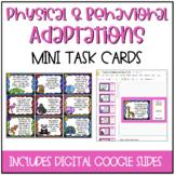 Physical or Behavioral Adaptations?  Mini Task Cards {DIGITAL}