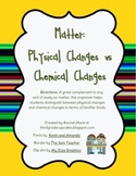 Physical versus Chemical Changes: Great Addition to any Matter Unit