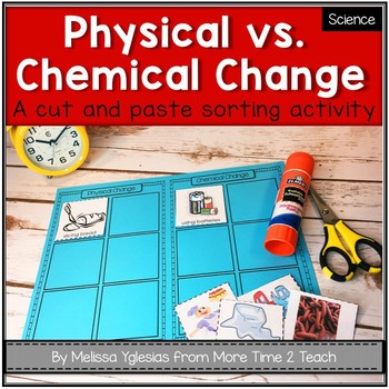 Physical vs  Chemical Change {FREE cut & paste activity}