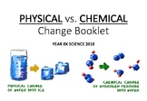 Physical vs. Chemical Reactions Booklet