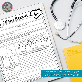 Physician's Report, Creative, Text-Based Fun with Literature, Any Text