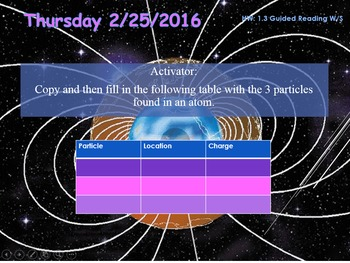 Physics 1.3 Magnetic Earth PowerPoint and Guided Notes
