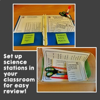 Physics: 8th Grade Science STAAR Review Stations Activity Bundle