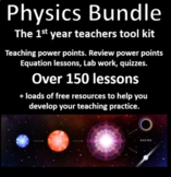 Physics Bundle, 90 detailed lessons grades 8 to 10, + Free AP Physics Bundle