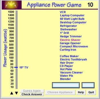 Physics - Appliance Power Game - PC Version