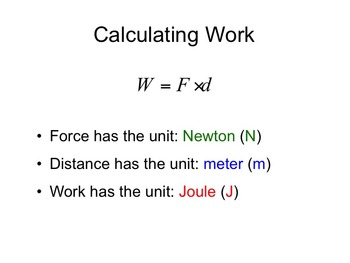 Physics -- Basic Work Calculations (complete lesson)