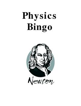Physics Bingo