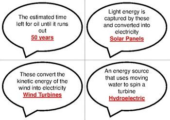 Physics Bingo: Energy