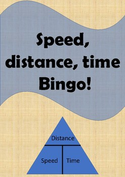 Physics Bingo: Speed, distance and time equations