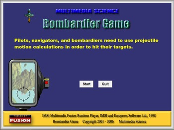 Physics - Bombardier Game - PC and MAC Flash Version