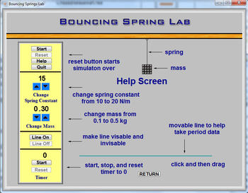 Physics - Bouncing Spring Lab - PC & MAC Flash Version