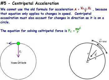 Physics Centripetal Force W Worksheet Powerpoint By Engaging