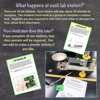 Physics Chat: First Day of School Ice Breaker Lab Activity for Physics