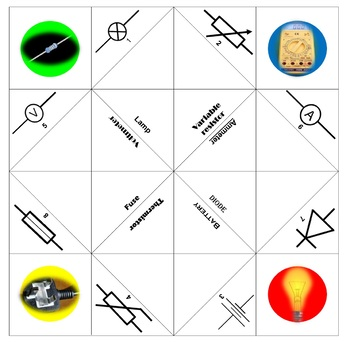 Physics Chatterbox/Cootie catcher: Circuit symbols