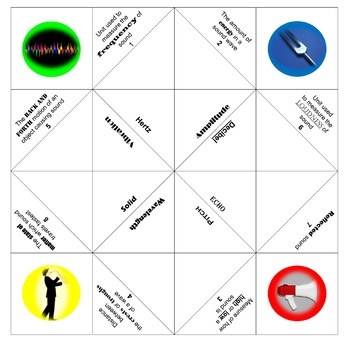 Physics Chatterbox/Cootie catcher: Sound