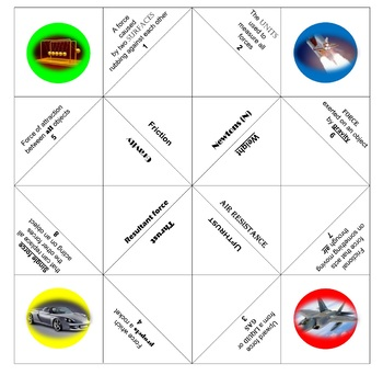 Physics Chatterbox/Cootie catcher: Forces
