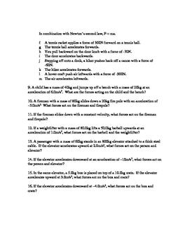 Physics Classwork 11