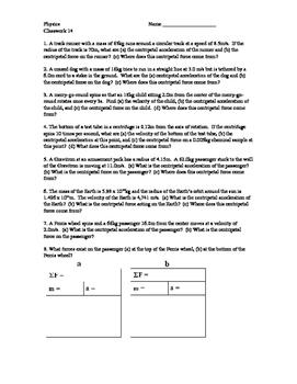 Physics Classwork 14