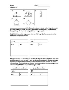 Physics Classwork 15