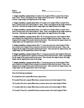 Physics Classwork 29