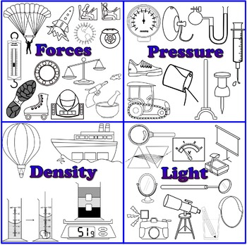 Physics Clipart (Lineart Bundle)