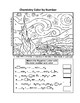 Starry Starry Night Chemistry Color By Number -  Balance Chem Equations