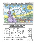 Starry Starry Night Chemistry Color By Number -  Balance C
