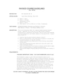 Physics Course Guidelines