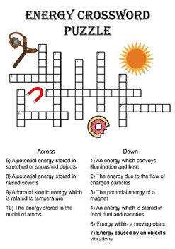 Physics Crossword Puzzle Energy Forms Includes Answer