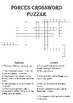 Physics Crossword Puzzle: Forces (Includes answer key)