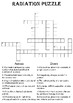 Physics Crossword Puzzle: Radiation (Includes answer key)