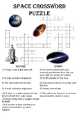 Physics Crossword Puzzle: Space (Includes answer key)