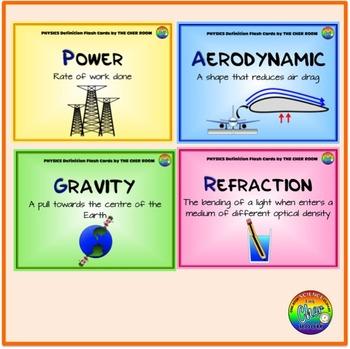 Physics Definition Flash Cards (Physics Vocabulary)