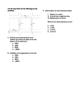 Physics - Distance and Displacement Quiz