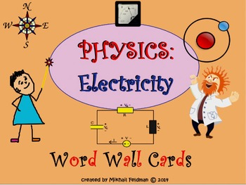 Word Wall Science: Physics: Electricity 28 Posters / Cards