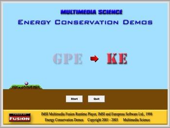 Physics - Energy Conservation Demos