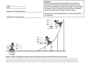 Physics - Energy Transformations - Potential&Kinetic Mathematics w/WS(POWERPOINT