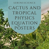 Cactus and Tropical Physics Equation Posters