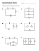 physics equivalent resistance practice 1 page worksheet by lisa tarman. Black Bedroom Furniture Sets. Home Design Ideas