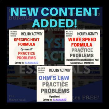 Physics Practice Essentials - Growing Mega Bundle