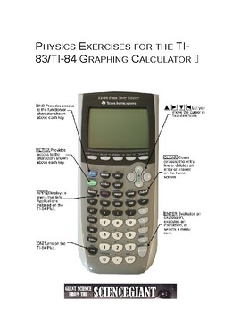 Physics Exercises for the TI-83/TI-84 Graphing Calculator