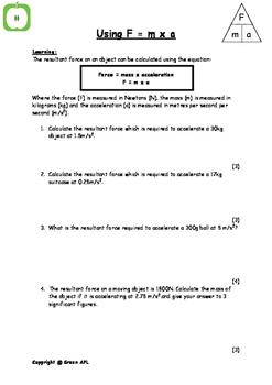 Physics: F=ma calculations