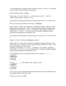 Physics Final Test 3