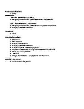 Physics - Fluids Block Schedule Lesson Plan