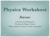 Physics Forces Worksheet