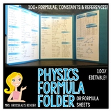 Physics Formula Folder [EDITABLE]